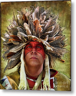 Native American Metal Print by Norma Warden