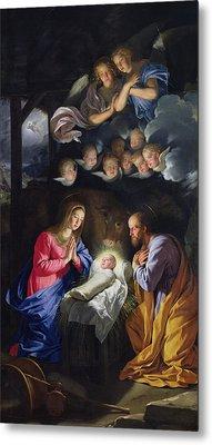 Nativity Metal Print by Philippe de Champaigne