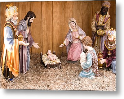 Nativity Scene Metal Print by Thomas R Fletcher