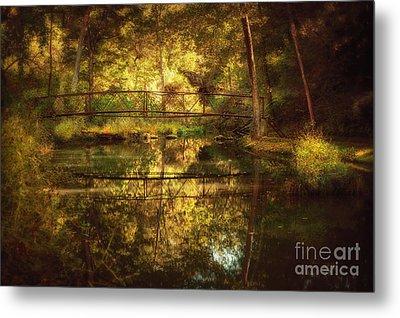 Natural Falls Bridge  Metal Print by Tamyra Ayles