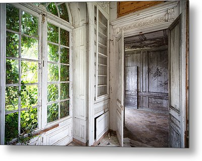 Nature Closes The Window - Urban Decay Metal Print by Dirk Ercken