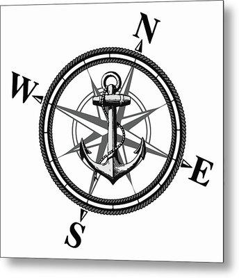 Nautica Bw Metal Print by Nicklas Gustafsson