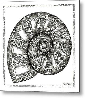 Nautilus Metal Print by Stephanie Troxell