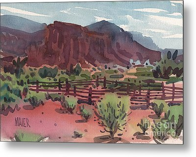 Navajo Corral Metal Print by Donald Maier