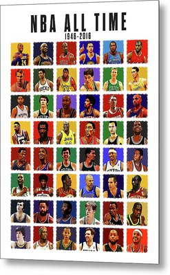Nba All Times Metal Print by Semih Yurdabak
