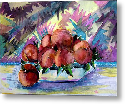 Nectarines Metal Print by Mindy Newman