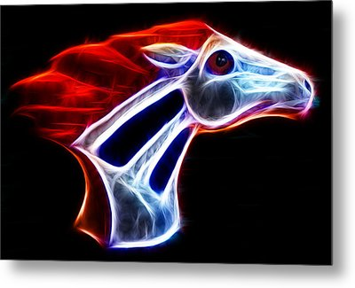 Neon Bronco Metal Print by Shane Bechler