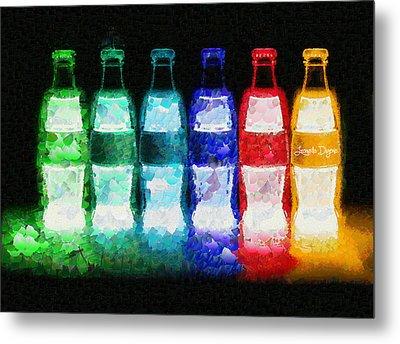 Neon-cola - Da Metal Print by Leonardo Digenio