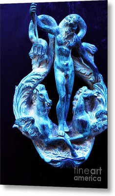 Neptune Door-knocker Metal Print by Thomas R Fletcher