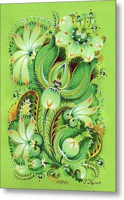Neptunes Flowers Metal Print by Olena Kulyk
