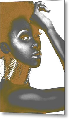 Nesha Metal Print by Naxart Studio