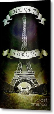 Never Forget Metal Print by Michael  Volpicelli