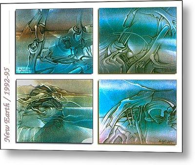 New Earth 1992-95 Metal Print by Glenn Bautista