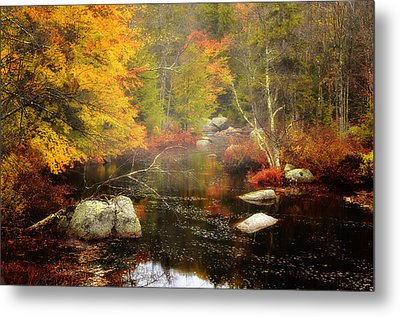 New Hampshire Wilderness-autumn Scenic Metal Print by Thomas Schoeller