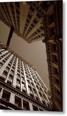 New Heights - Wrigley Building - Chicago Metal Print by Dmitriy Margolin