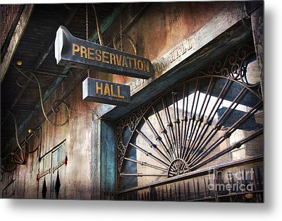 New Orleans Jazz Metal Print by Jeanne  Woods