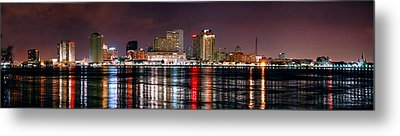 New Orleans Skyline At Night Metal Print by Jon Holiday