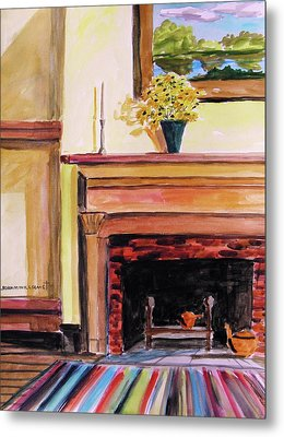 New Painting Over The Mantel Metal Print by John  Williams
