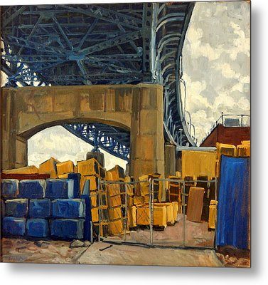 New York Blue Metal Print by Thor Wickstrom