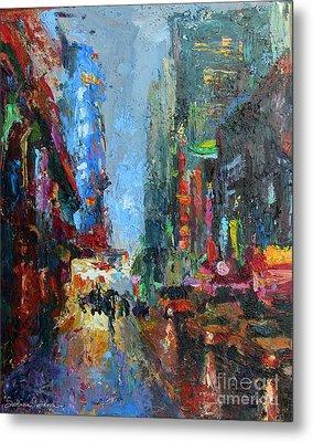 New York City 42nd Street Painting Metal Print by Svetlana Novikova
