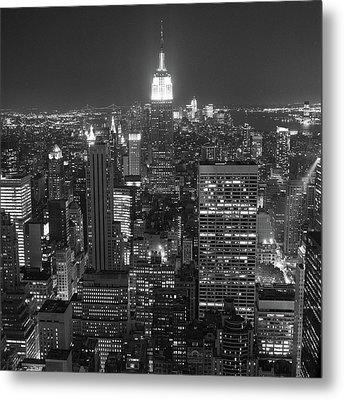 New York City At Night Metal Print by Adam Garelick
