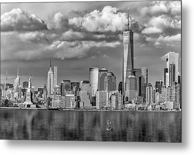 New York City Icons II Bw Metal Print by Susan Candelario