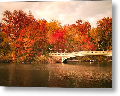 New York City In Autumn - Central Park Metal Print by Vivienne Gucwa