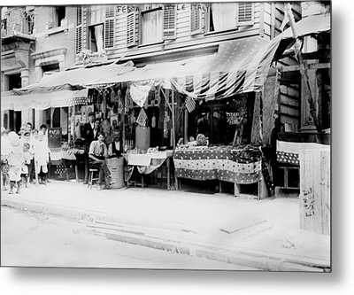New York City, Italian Wares On Display Metal Print by Everett