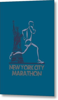 New York City Marathon3 Metal Print by Joe Hamilton