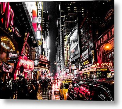 New York City Night II Metal Print by Nicklas Gustafsson