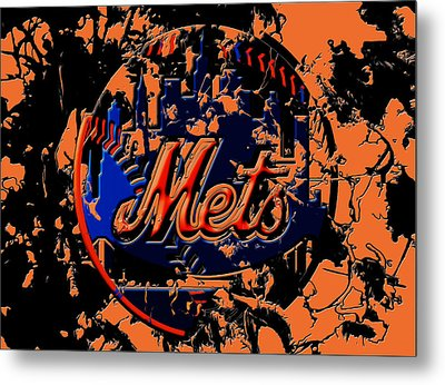 New York Mets 6c Metal Print by Brian Reaves