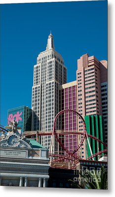 New York New York Hotel Metal Print by Andy Smy