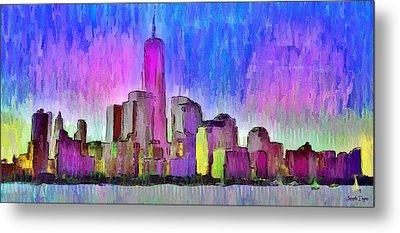 New York Skyline 4 - Pa Metal Print by Leonardo Digenio