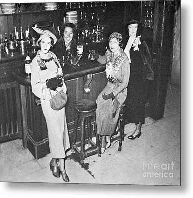 New York Society Women Enjoy Their First Legal Drink After The Repeal Of The Volstead Act In 1933 Metal Print by American School
