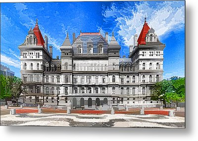 New York State Capitol Metal Print by Lanjee Chee