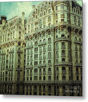 New York Upper West Side Apartment Building Metal Print by Amy Cicconi