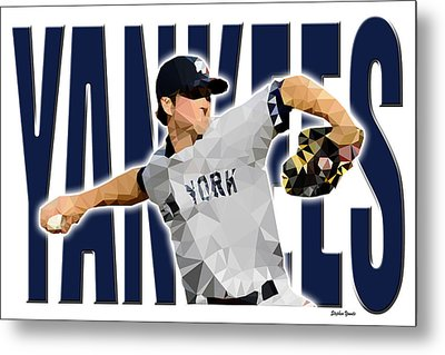 New York Yankees Metal Print by Stephen Younts
