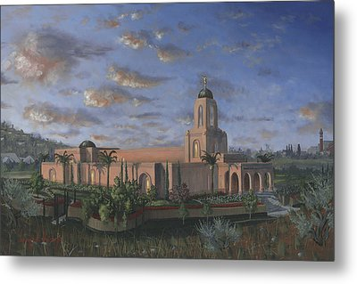 Newport Beach Temple Metal Print by Jeff Brimley
