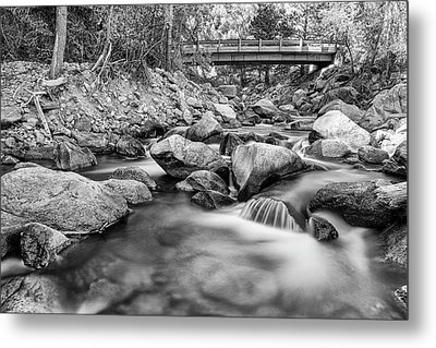 Next Crossing In Black And White Metal Print by James BO Insogna