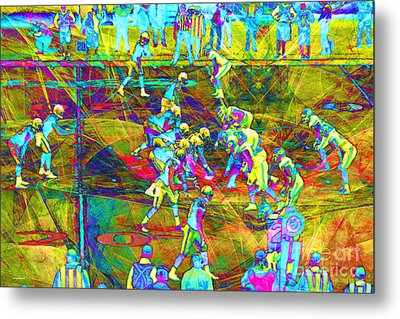 Nfl Football Red Zone Dsc3941 20151215 Metal Print by Wingsdomain Art and Photography