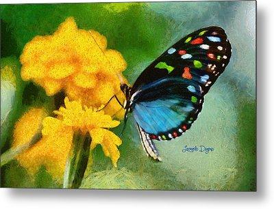 Nice Butterfly - Da Metal Print by Leonardo Digenio