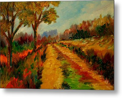 Nice Pathway Metal Print by Constantinos Charalampopoulos