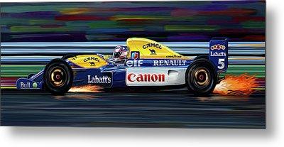 Nigel Mansell Williams Fw14b Metal Print by David Kyte