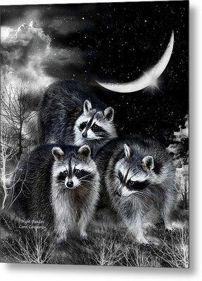 Night Bandits Metal Print by Carol Cavalaris