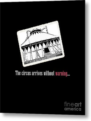 Night Circus Tee Black Metal Print by Edward Fielding