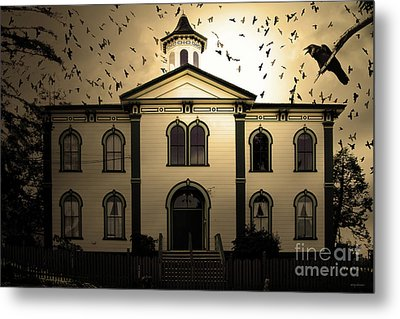 Night Of The Birds . Sepia . 7d12487 Metal Print by Wingsdomain Art and Photography