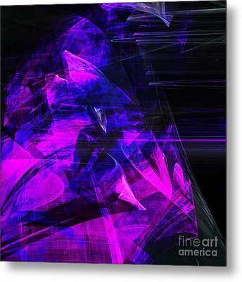 Night Rider . Square . A120423.936.693 Metal Print by Home Decor