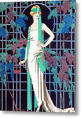Night Rose Metal Print by Georges Barbier