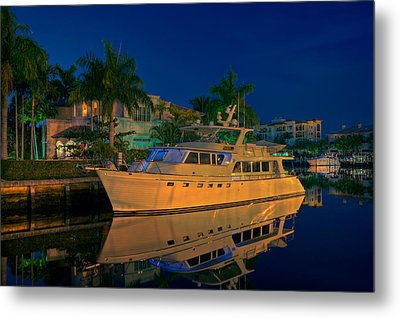 Night Time In Fort Lauderdale Metal Print by James O Thompson
