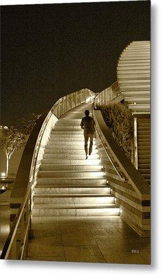 Night Time Stairway Metal Print by Ben and Raisa Gertsberg